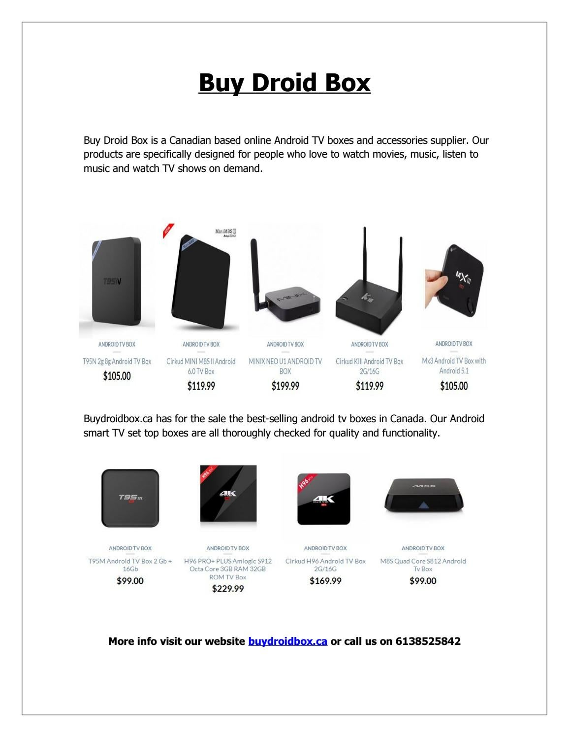 Buydroidbox ca : Best Android Box Fully Loaded | Buy Android