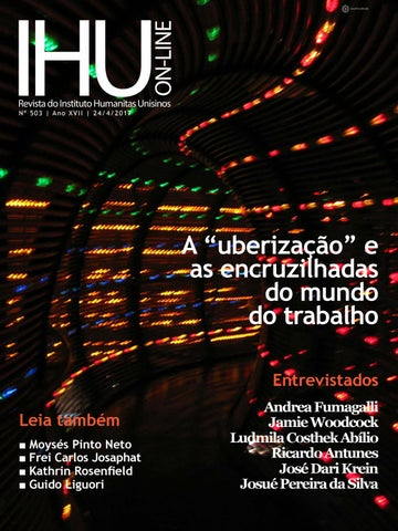 IHU On-Line 503 – A  uberização  e as encruzilhadas do mundo do ... 8801fa497b0