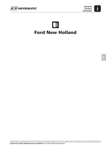 FILTERS 070 ford new holland by The Vapormatic Co  Ltd  - issuu