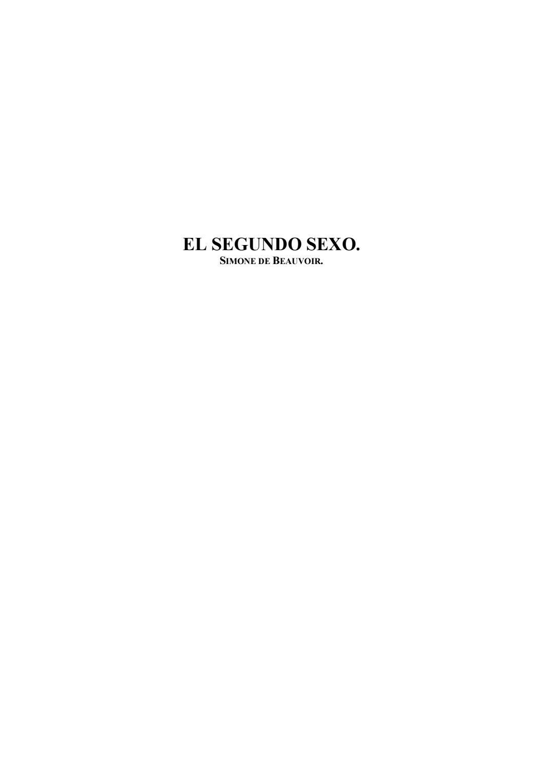 De Segundo El Beauvoir Sexo Simone SUMGqzVp
