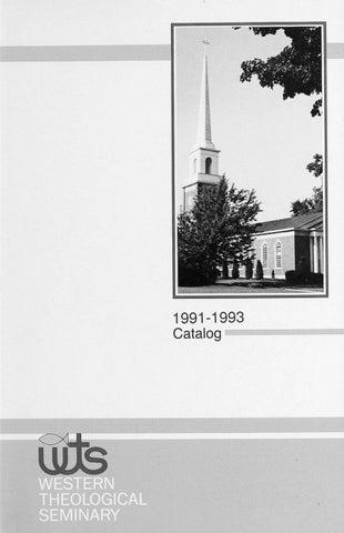 Western Theological Seminary 1991 1993 By Hope College Van Wylen