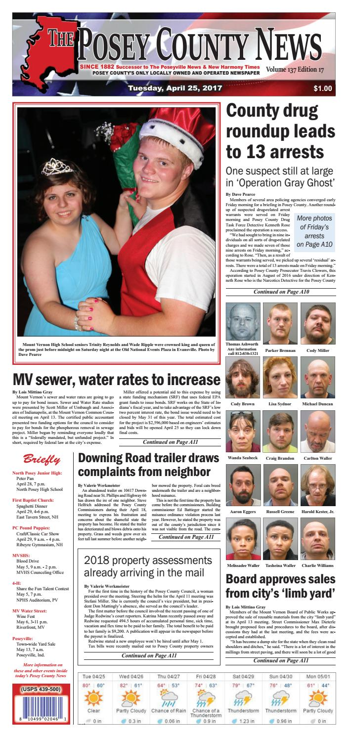 April 25, 2017 - The Posey County News by The Posey County