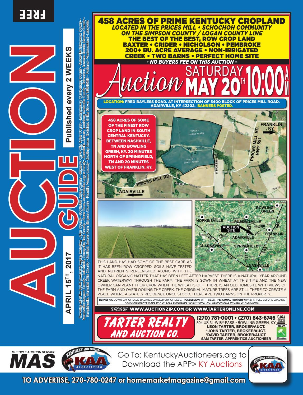 Auction Guide May 1st 2017 By Home Market Magazine