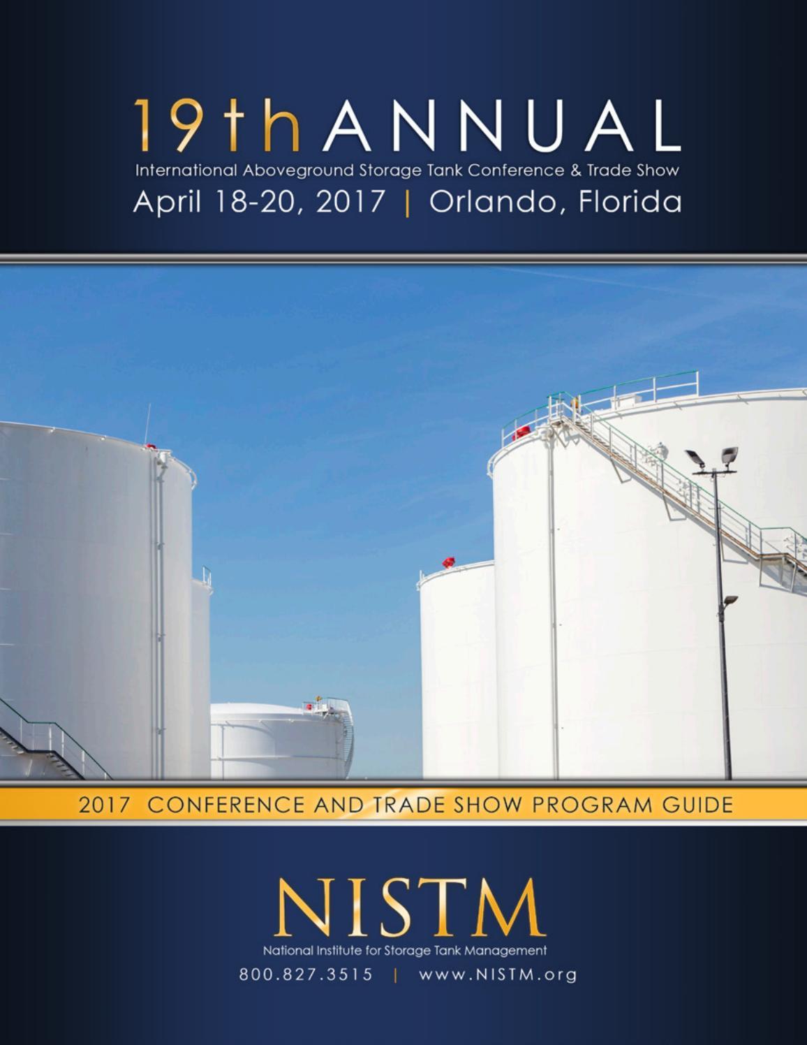 NISTM Program Guide - 19th Annual International Aboveground