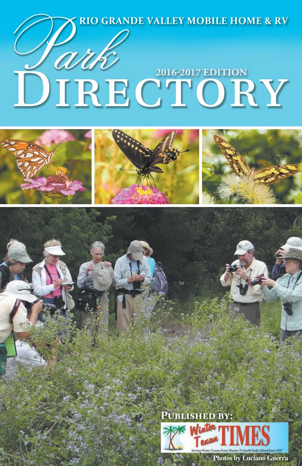 2016 Park Directory By Winter Texan Times