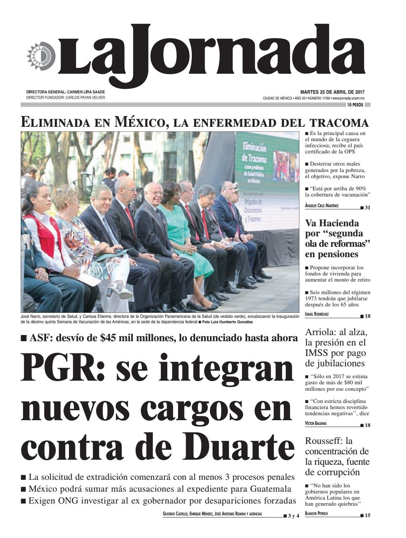 La Jornada, 04/25/2017 by La Jornada: DEMOS Desarrollo de Medios SA ...