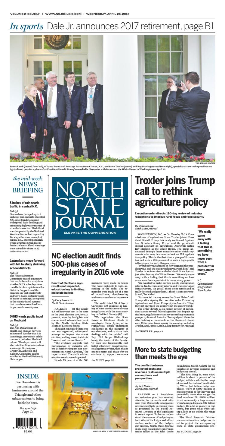 North State Journal — Vol  2 , Issue 17 by North State