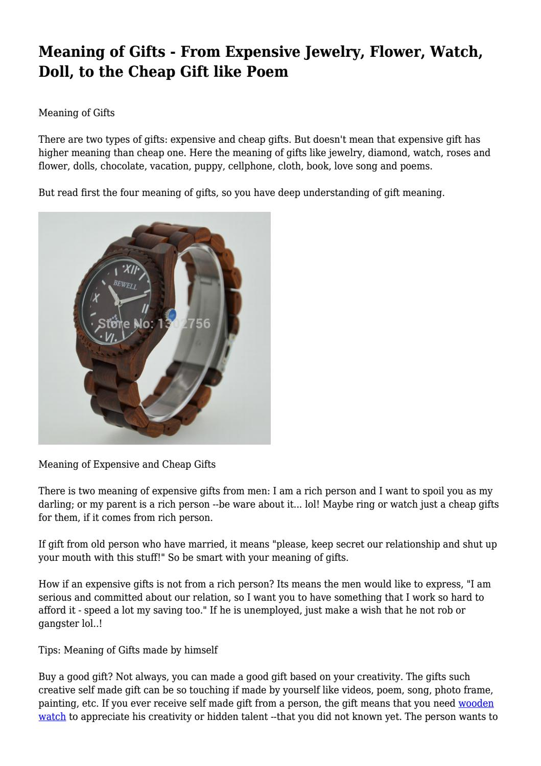 Meaning of gifts from expensive jewelry flower watch doll to meaning of gifts from expensive jewelry flower watch doll to the cheap gift like poem by quickvegetable210 issuu solutioingenieria Image collections