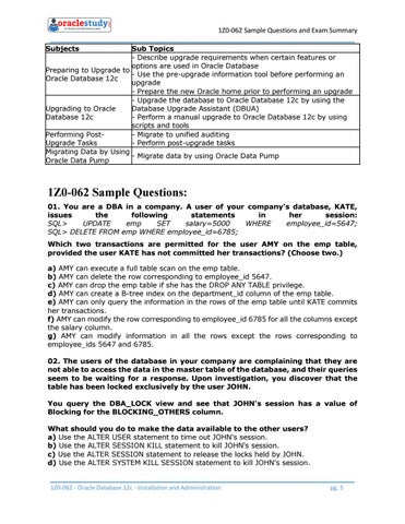 How to Prepare for 1Z0-062 exam on Oracle Database 12c by