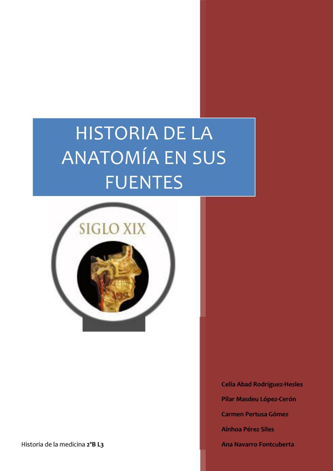 Historia de la anatomia en sus fuentes by celiaabad - issuu
