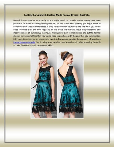 Formal Dresses Australia By Janis Aron Issuu