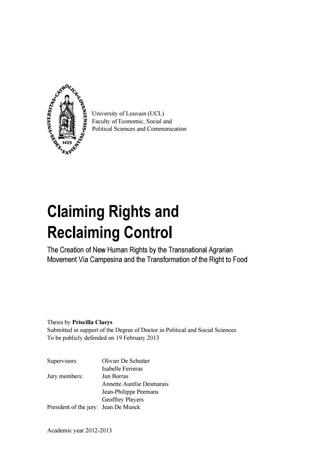 Claiming Rights And Reclaiming Control By Fgf Ffg Issuu