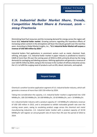 PDF-U.S. Industrial Boiler Market Update, 2017 by Global Market ...