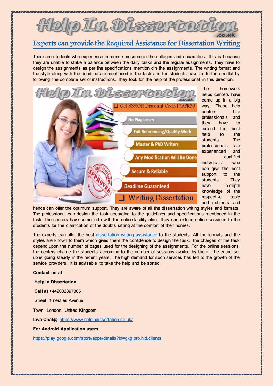 help for dissertation