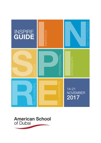 2017 INSPIRE Guide by American School of Dubai - issuu