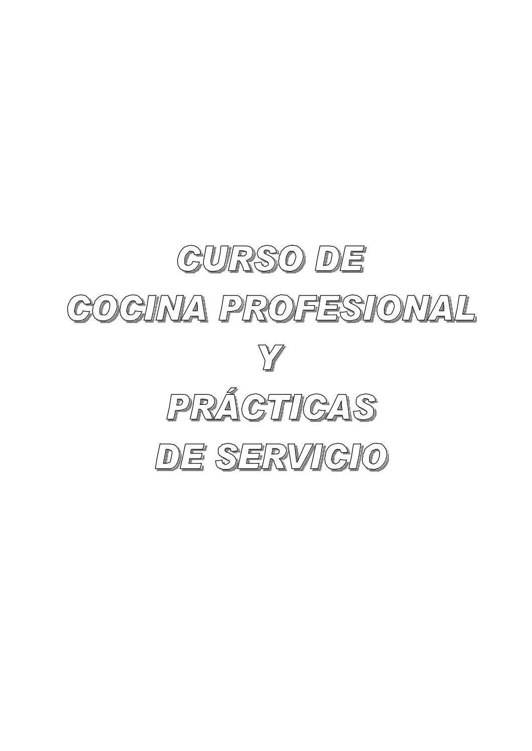 1 curso de cocina profesional by Miguel Garcia - issuu