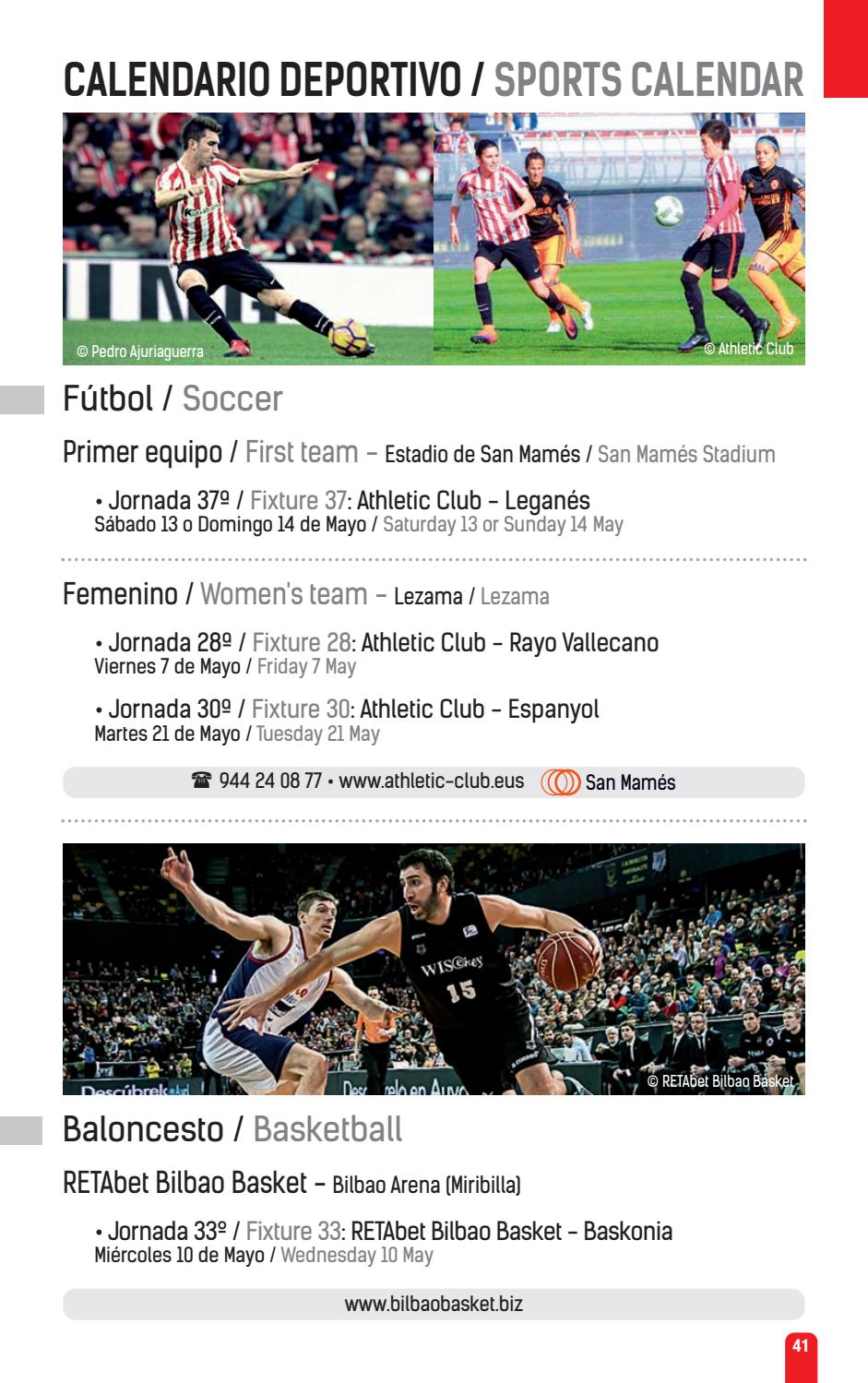 Athletic Club Bilbao Calendario.Bilbaopocket Mayo Junio May June By Bilbao Turismo Issuu