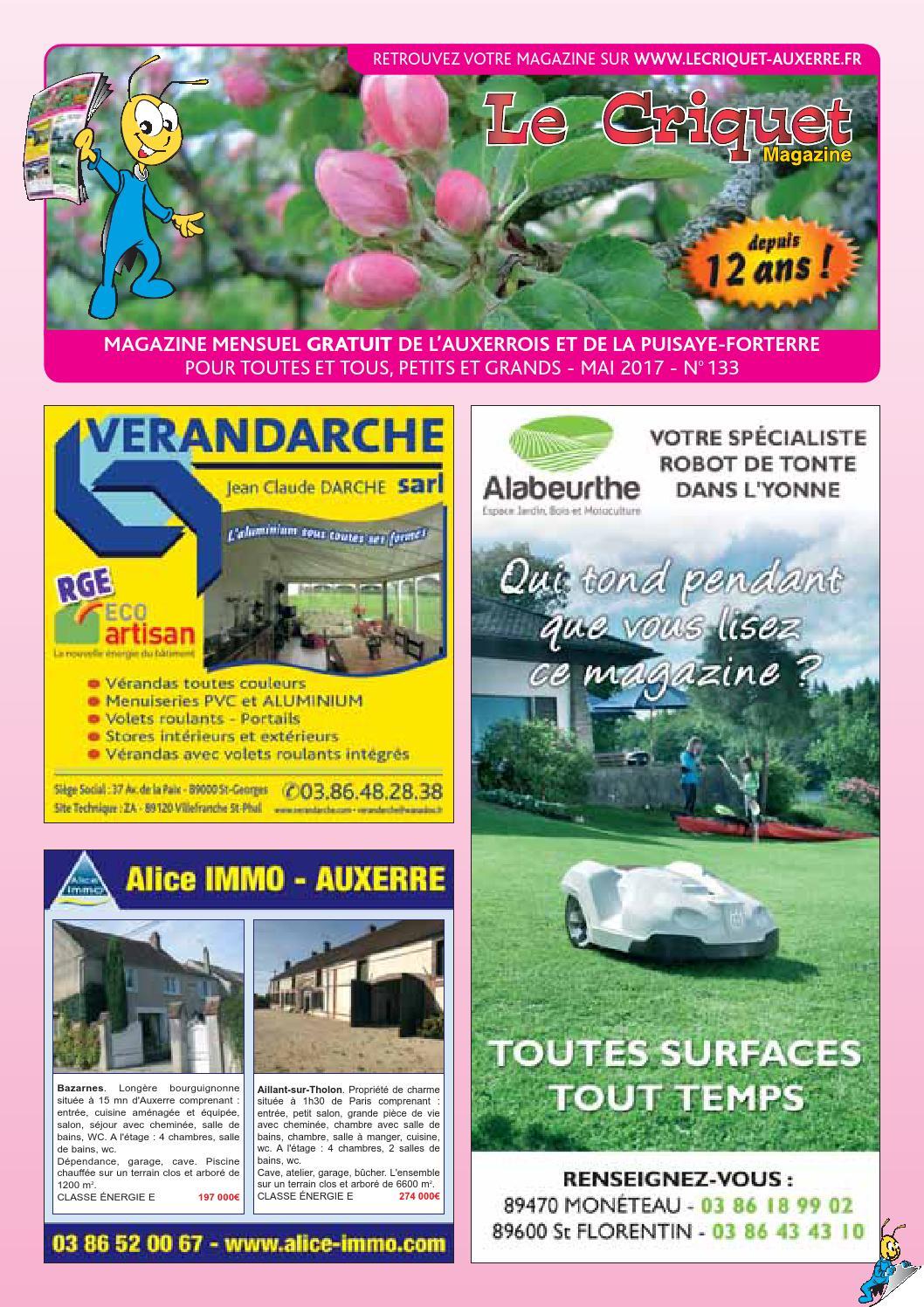 Le Criquet Magazine Numero 133 Mai 2017 By Proxilog