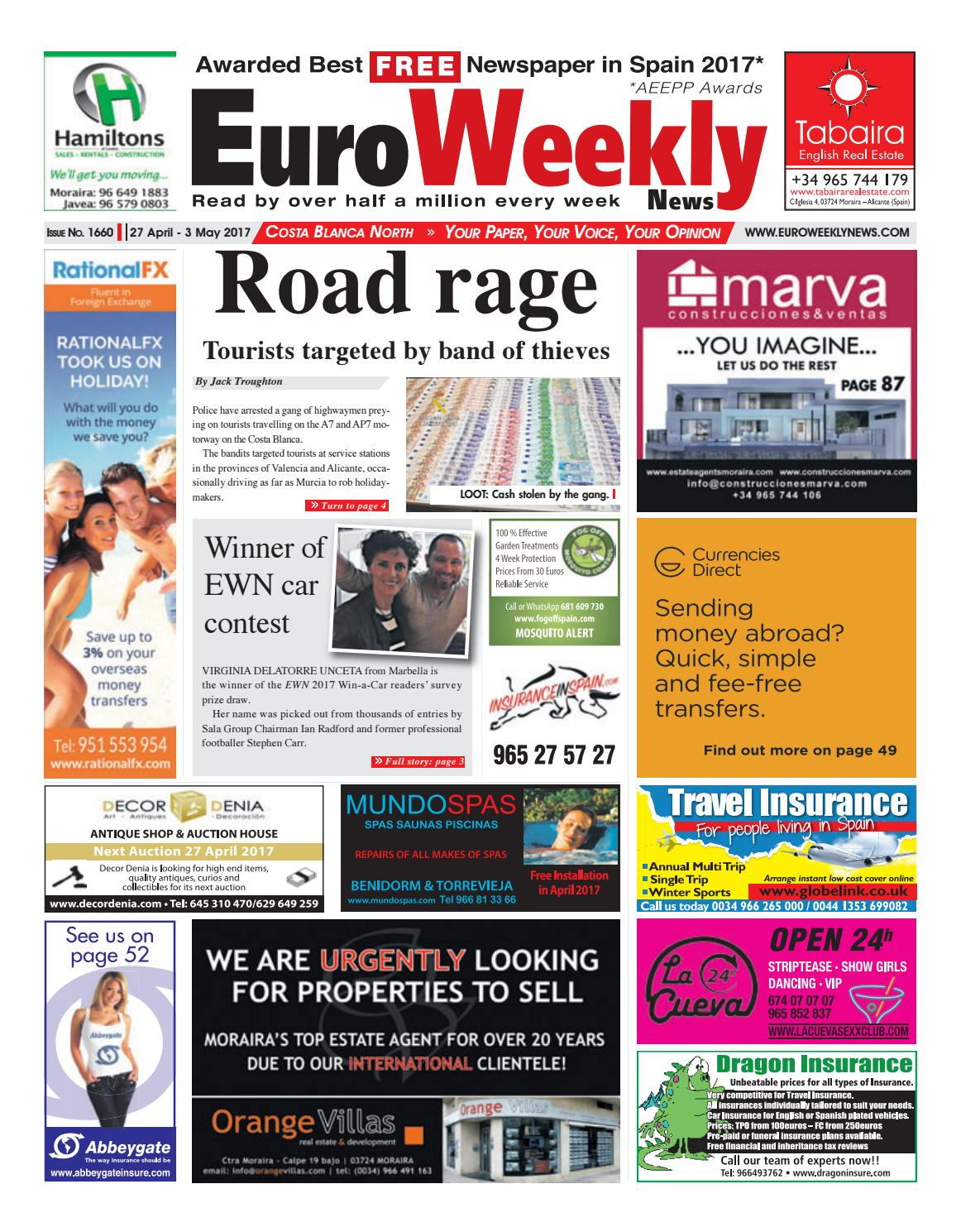 b80186295b91d Euro Weekly News - Costa Blanca North 27 April - 3 May 2017 Issue 1660 by  Euro Weekly News Media S.A. - issuu