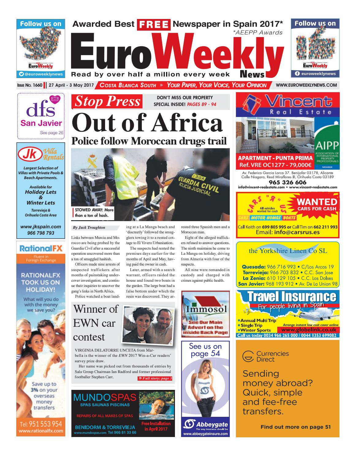 Hot desking lands ato in compensation case - Euro Weekly News Costa Blanca South 27 April 3 May 2017 Issue 1660 By Euro Weekly News Media S A Issuu