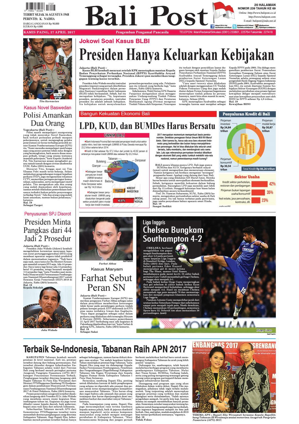 Edisi 27 April 2017 Balipostcom By E Paper Kmb Issuu Produk Ukm Bumn Dompet Double Bordir Rikaamp039s