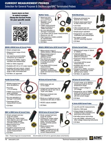 Aemc instruments 2017 catalog by aemc marketing issuu page 80 of current measurement probes fandeluxe Image collections