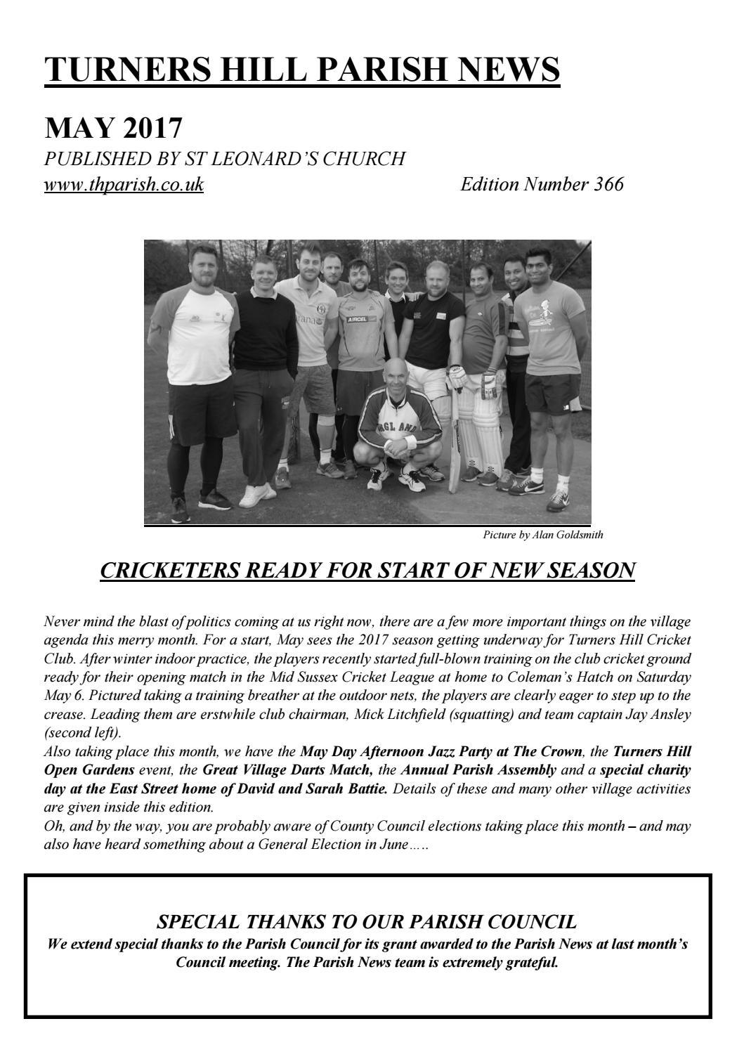 Parish News May 2017 By St Leonards Turners Hill