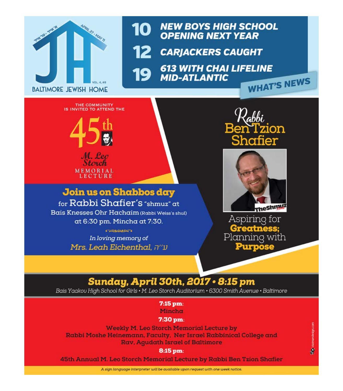 Baltimore Jewish Home - 4-27-17 by Moshe Rubin - issuu