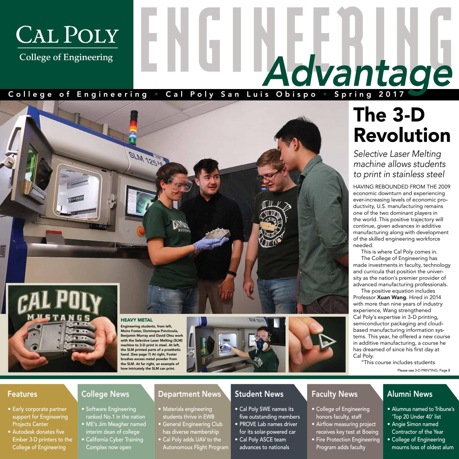 Cal Poly Engineering Advantage Spring 2017 By Engineering