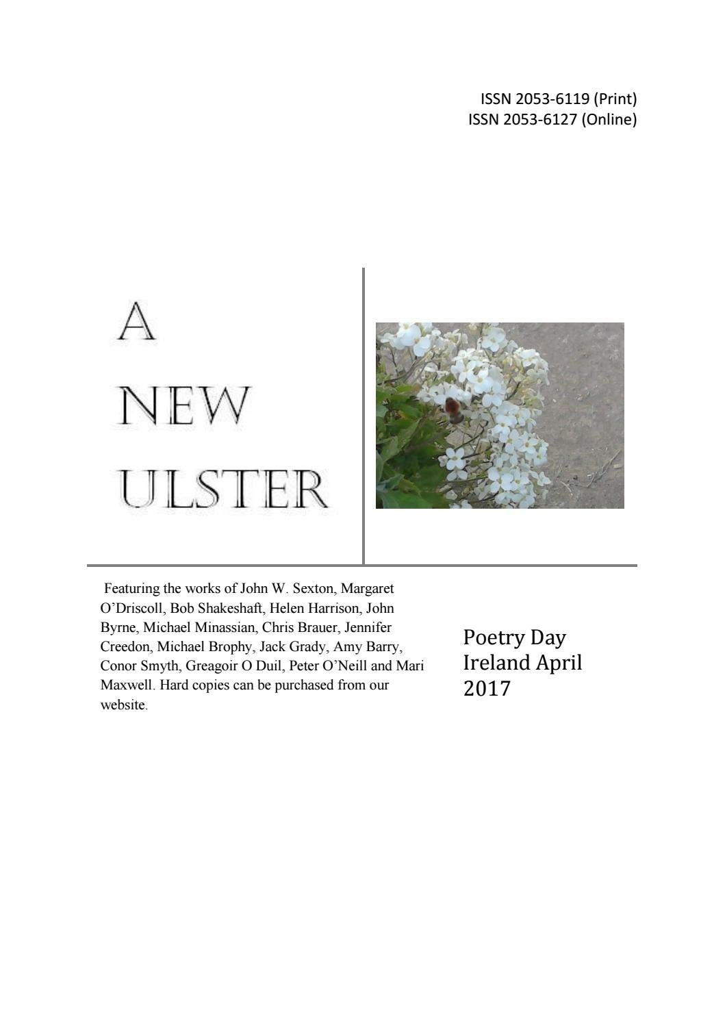 A New Ulster: Poetry Day Ireland Anthology by Amos Greig - issuu