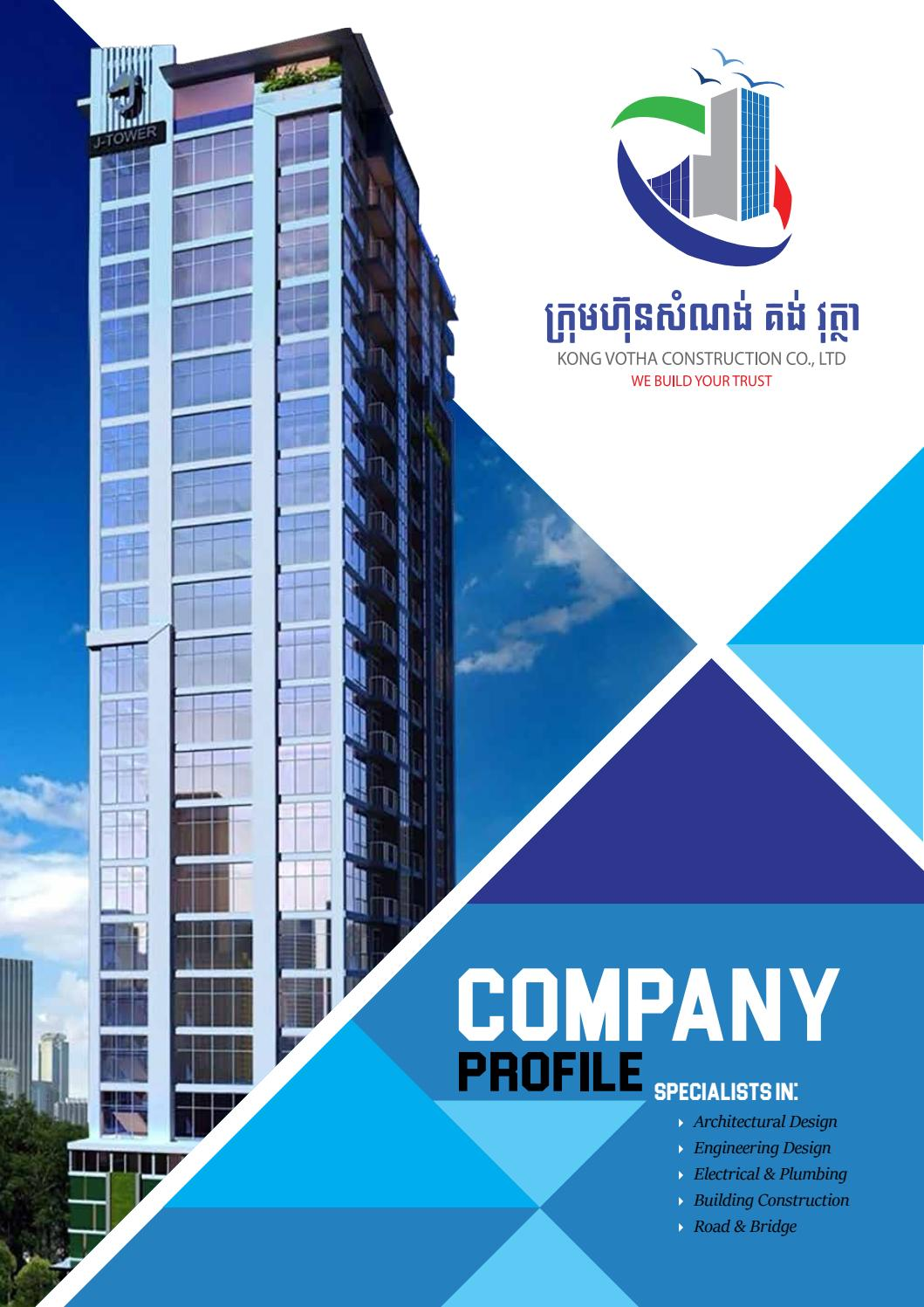 Company profile kong votha construction co ltd by for House design company