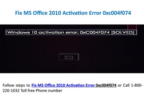 microsoft office 2010 activation support phone number
