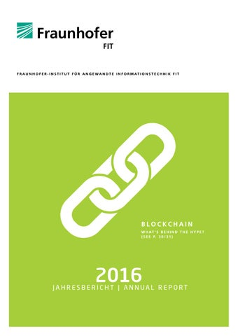 Fraunhofer FIT, Annual Report 2016 / Jahresbericht 2016 by ...