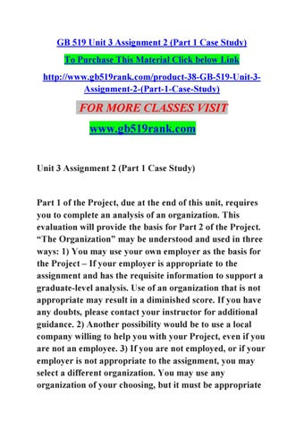 gb519 unit 3 case study