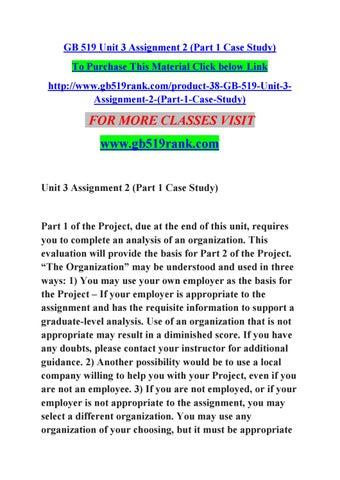 gb519 case study part 1