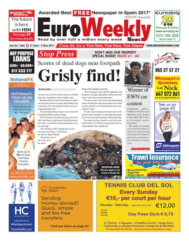 Euro weekly news costa del sol 27 april 3 may 2017 issue 1660 by page 1 fandeluxe Gallery