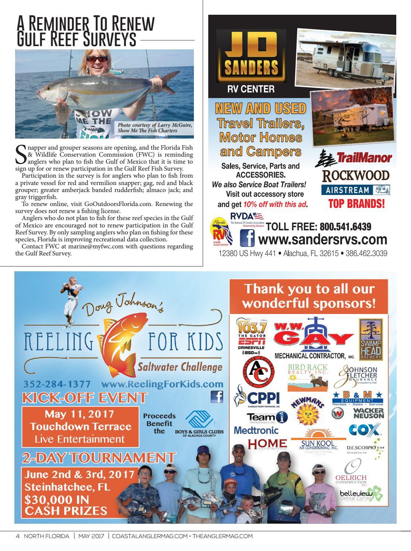 Coastal angler magazine may big bend by coastal angler for Renew florida fishing license