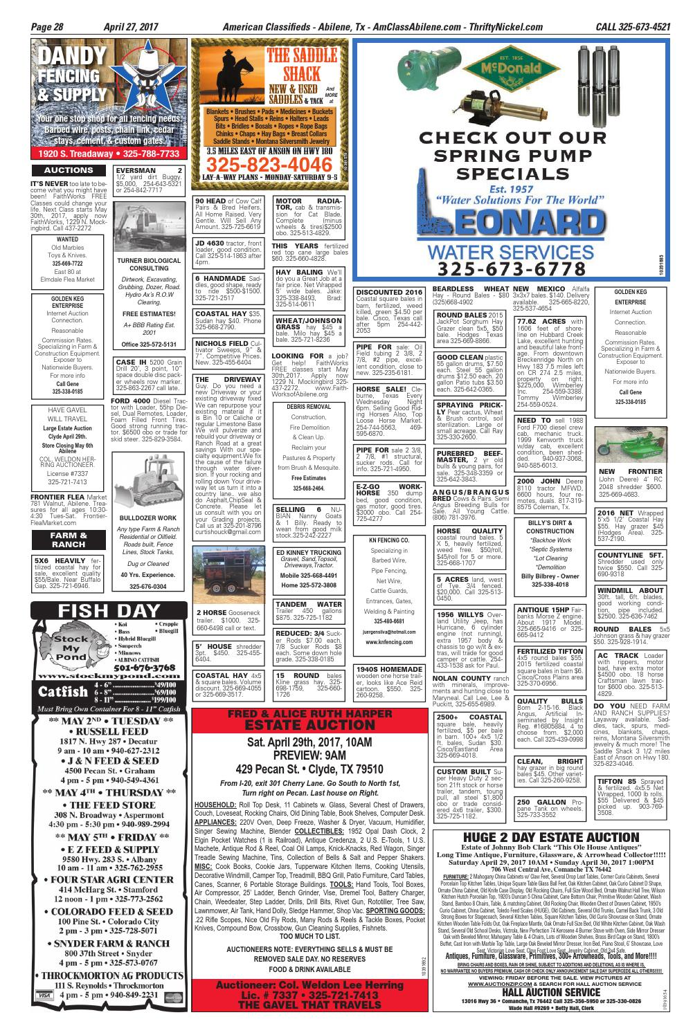 American Classifieds Abilene 04-27-17 by American