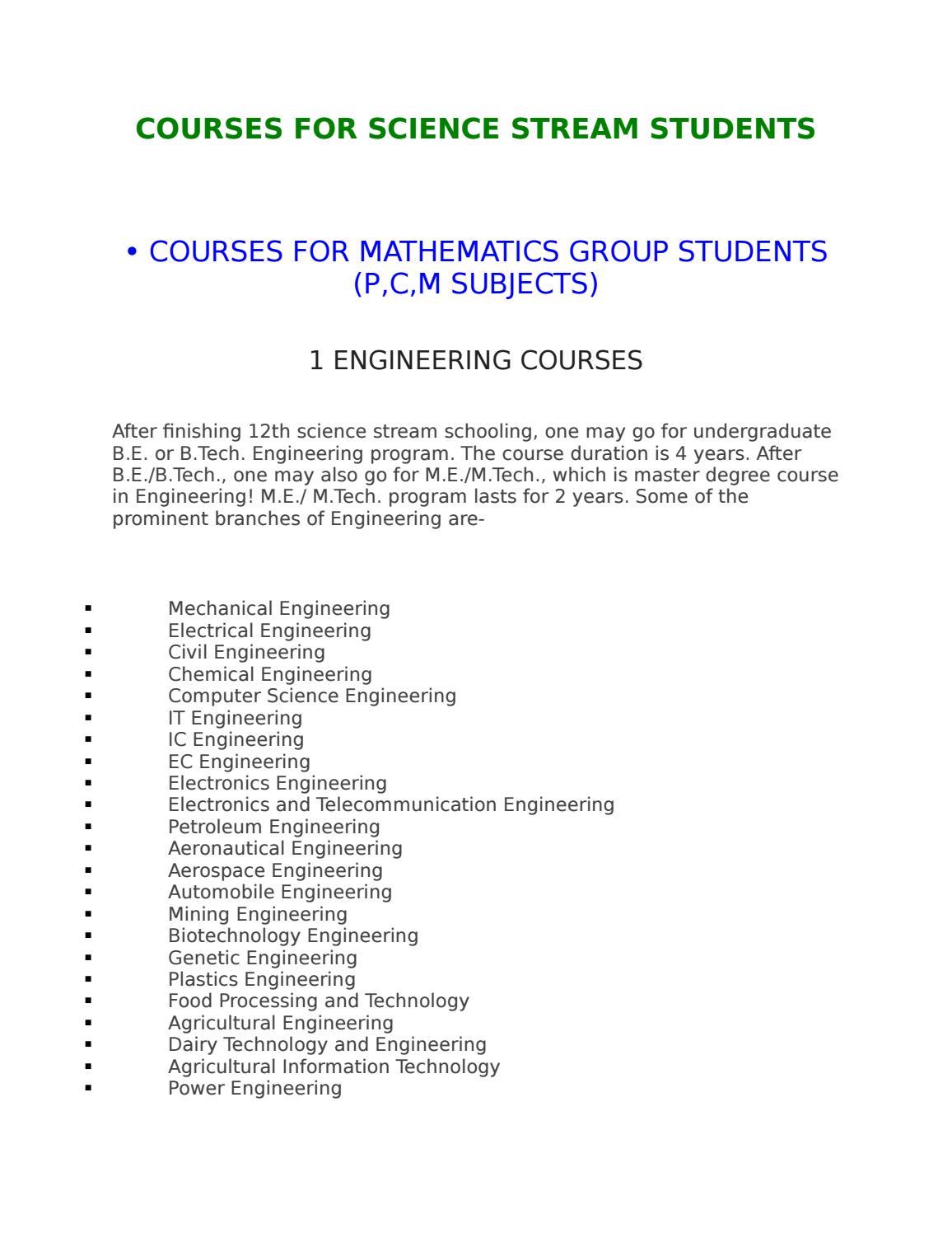 Courses After 12th Science Pcm By Er Hitesh Jadav