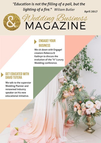 The Wedding Business Magazine April 2017 by International Academy of ...