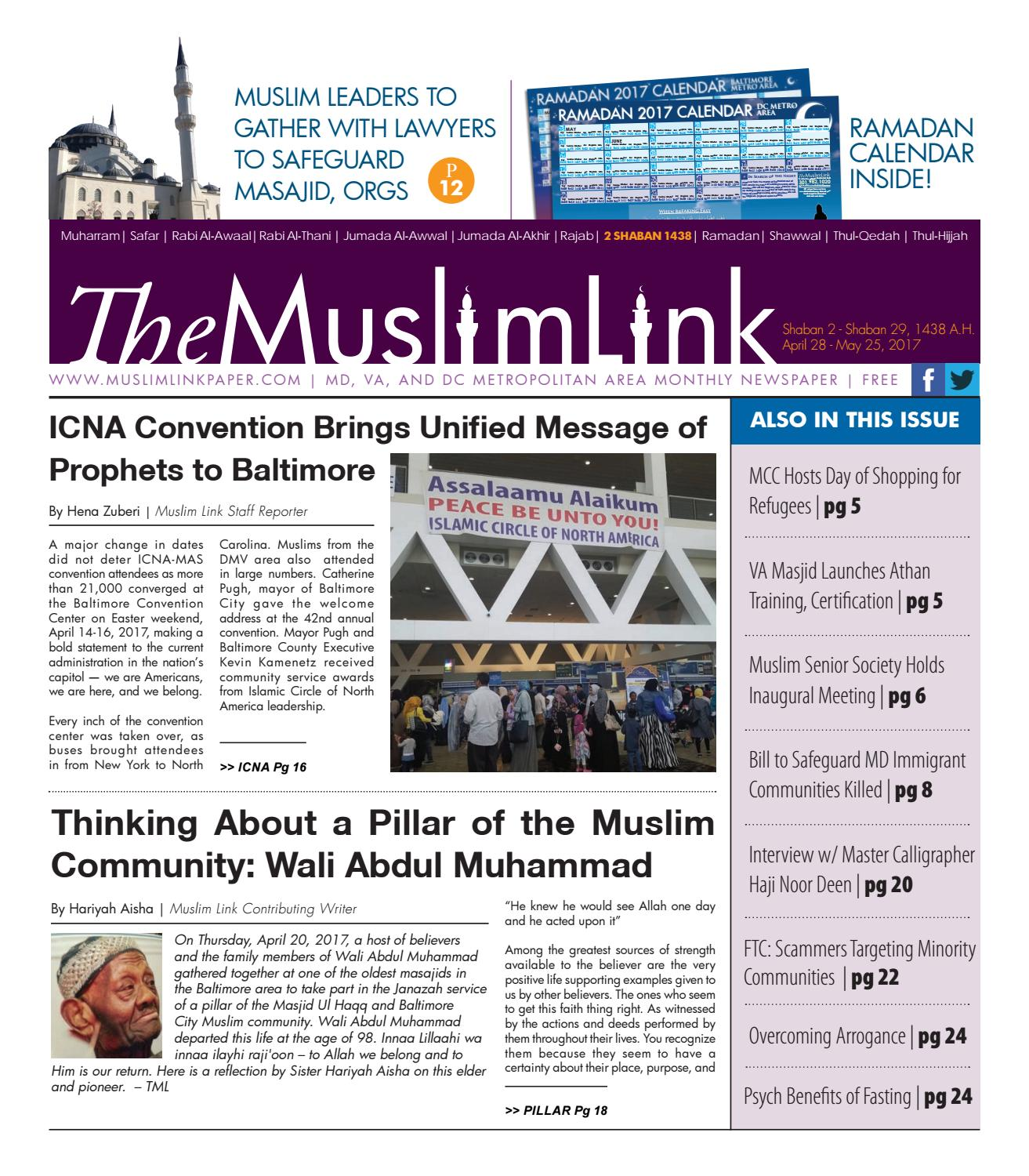 The Muslim Link, April 28 2017 by The Muslim Link - issuu