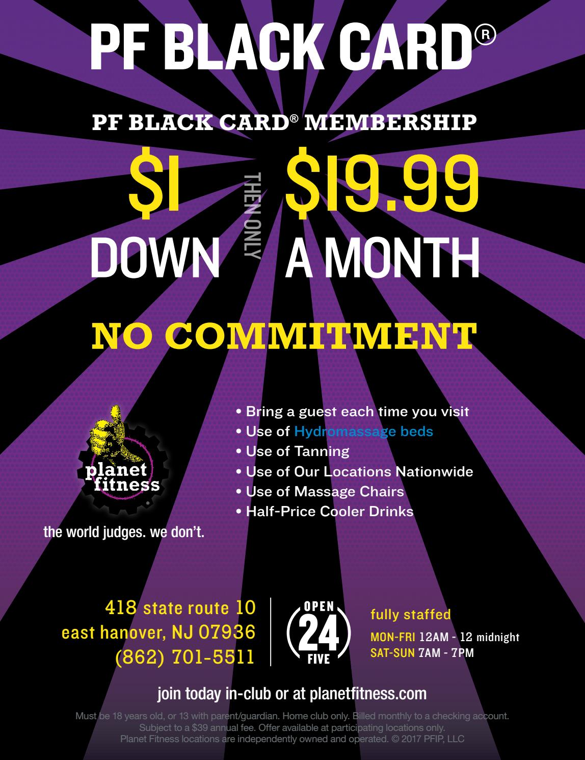 how much is a black card membership at planet fitness