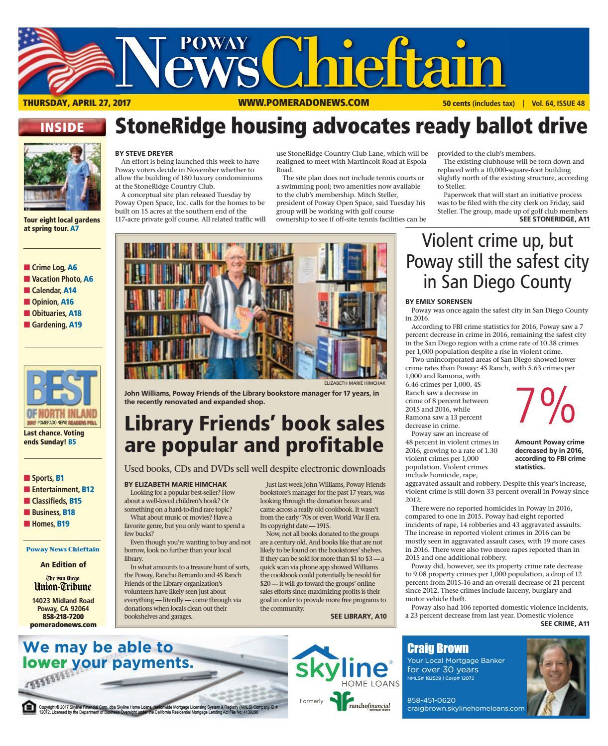 Poway news chieftain 04 27 17 by MainStreet Media - issuu