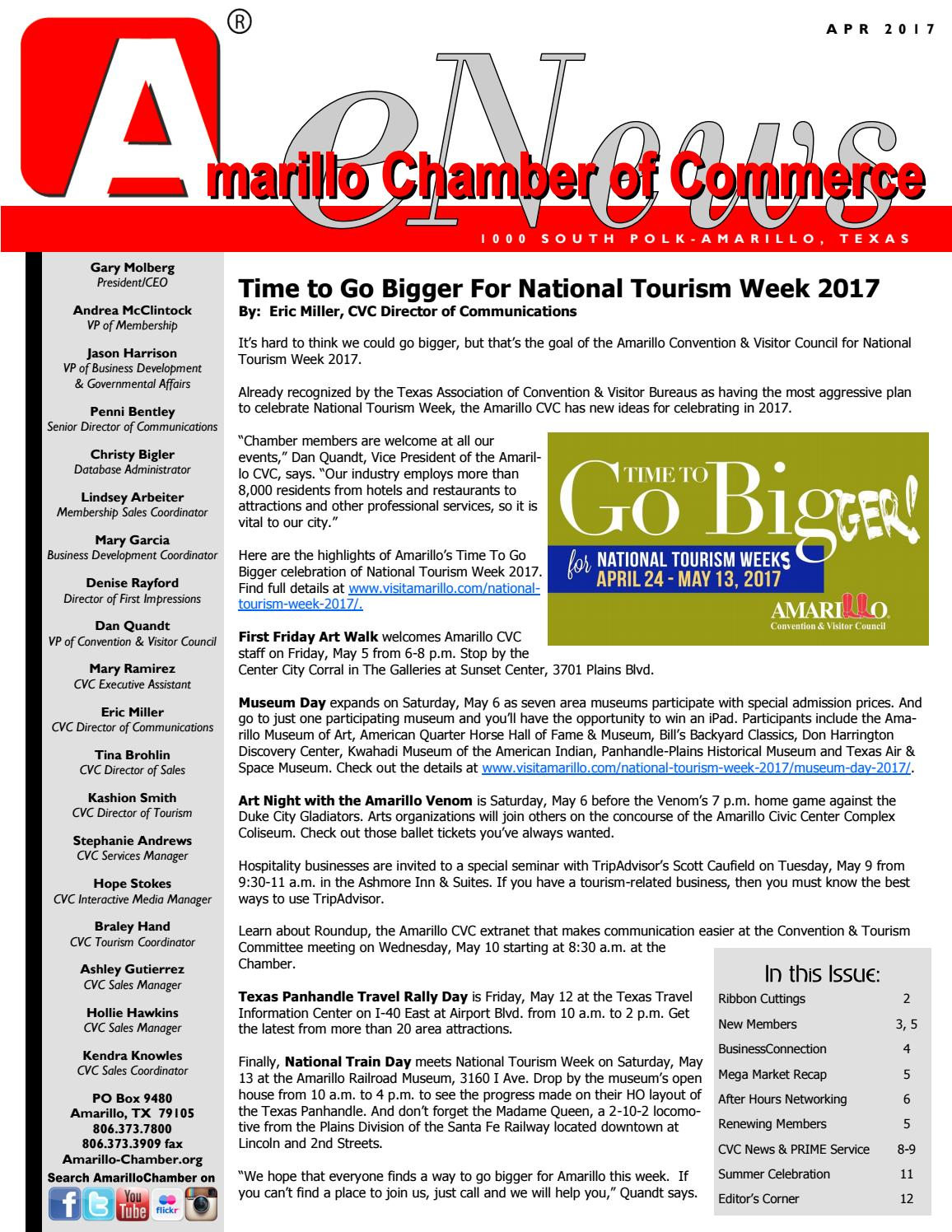 April 2017 Enews By Amarillo Chamber Of Commerce Issuu