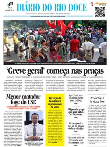 Diário do Rio Doce - Edição de 28 04 2017 by Diário do Rio Doce - issuu 3dff3788cf