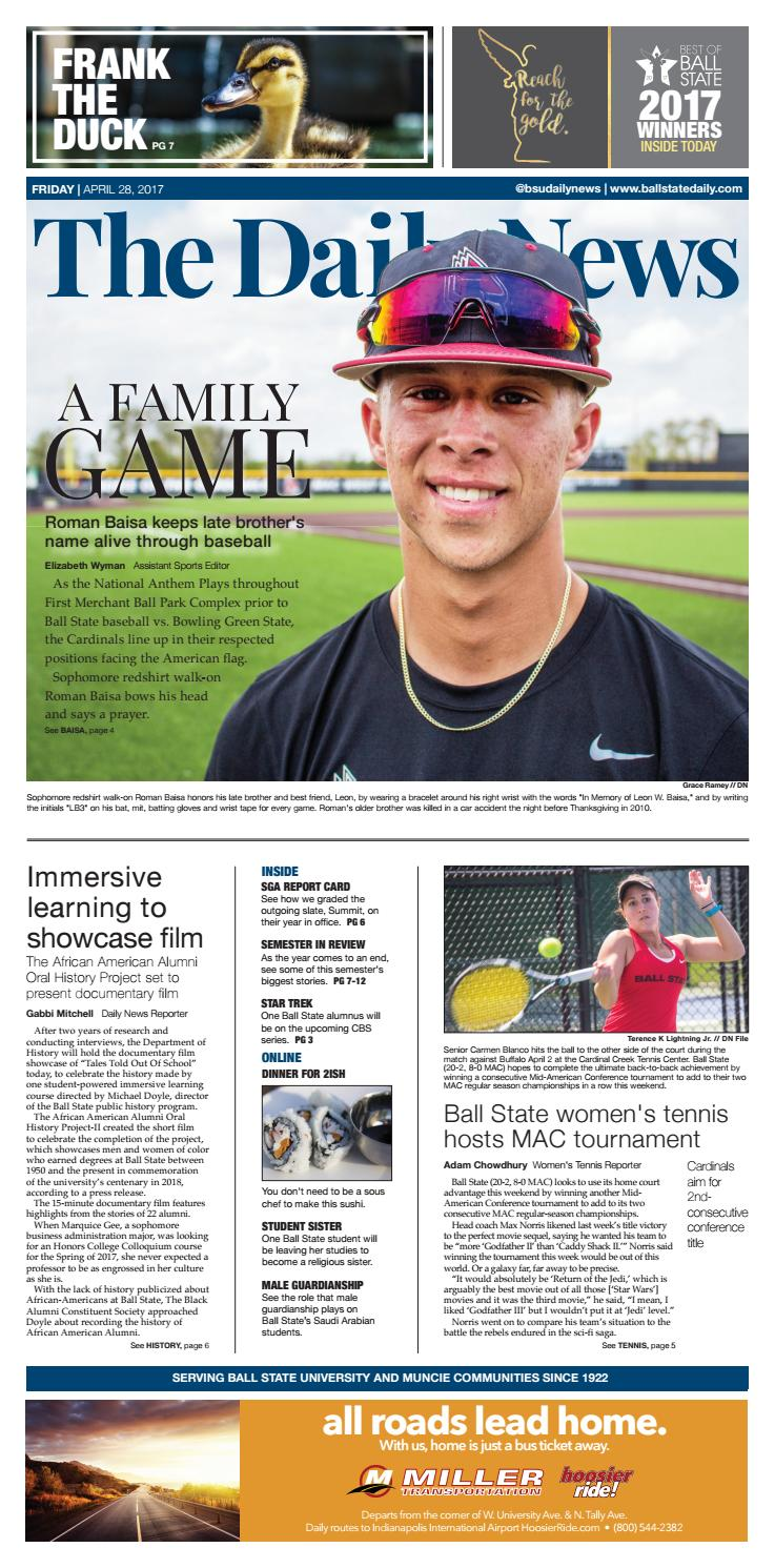 f64e3d266bb BSU 4-28-17 by The Ball State Daily News - issuu