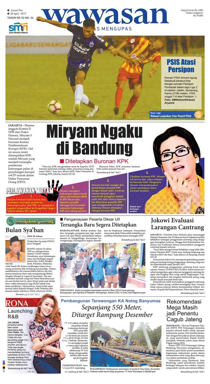 Wawasan 28 April 2017 By Koran Pagi Issuu Produk Ukm Bumn Dress Gamis Batik Motif Ayam Bekisar
