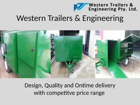 trailer manufacturers melbourne western trailers engineering by