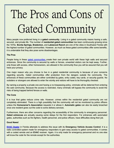 cost of gate for gated community