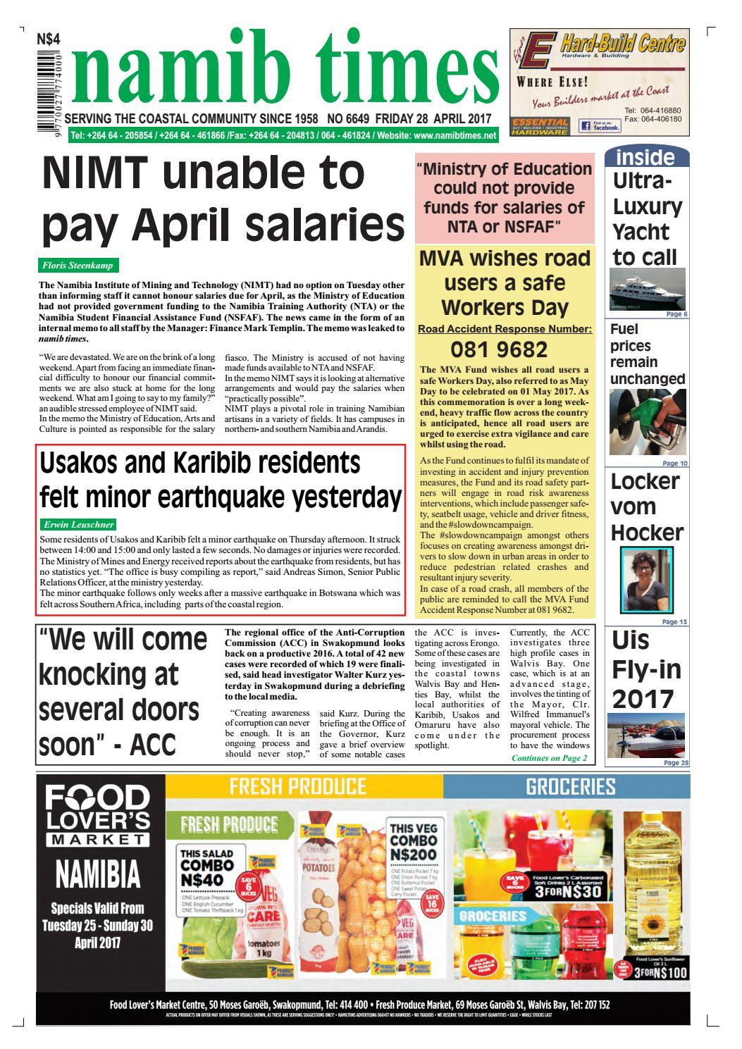 28 april namib times e edition by namib times virtual issuu